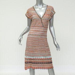 Missoni Dress: Orange Cap Sleeve Casual Dress
